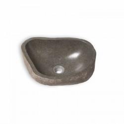 Vasque en pierre naturelle galet de rivière 35-50 cm