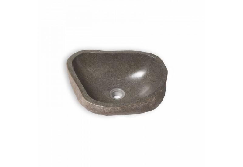 Vasque en pierre naturelle 40 45 cm de bali pour salle de bain for Vasque exterieur pierre