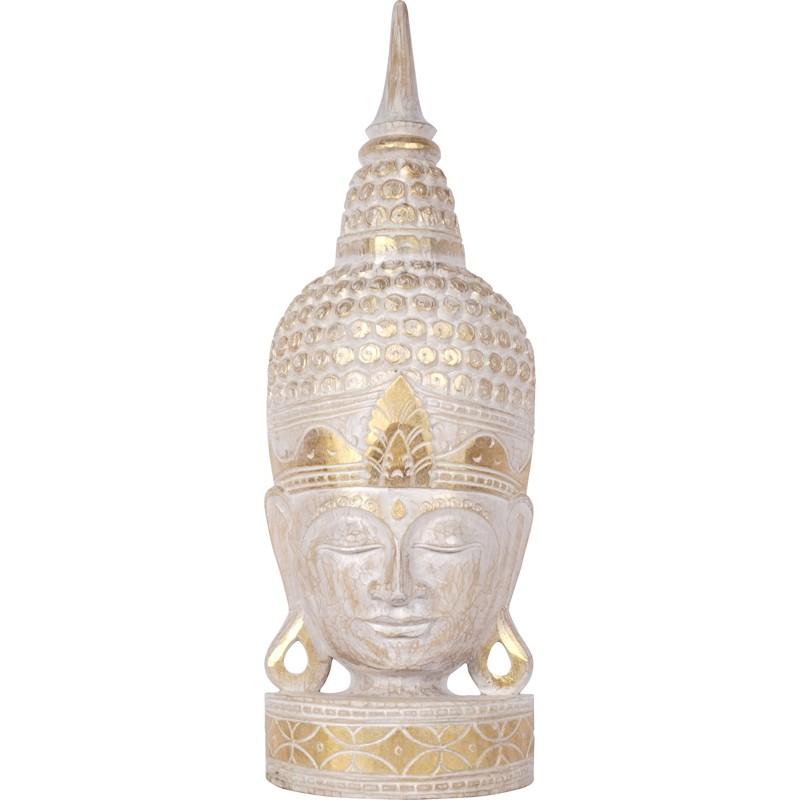 Corail KOH DECO T/ête de Bouddha en Bois 70 cm