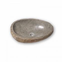 Vasque en pierre naturelle galet de rivière 50-55 cm