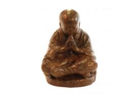 Statue moine Shaolin 50 cm - Marron