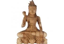 Sculpture Shiva en bois 40 cm