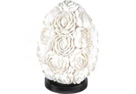 Lampe ovale Roses en coquillages - Petit modèle
