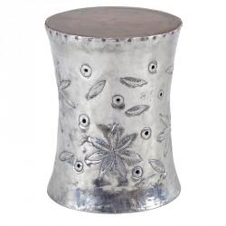 Tabouret Poho en teck et métal Ø 35 cm