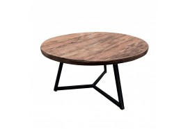 Table basse ronde en Teck Oreca Ø 55 cm - CASITA