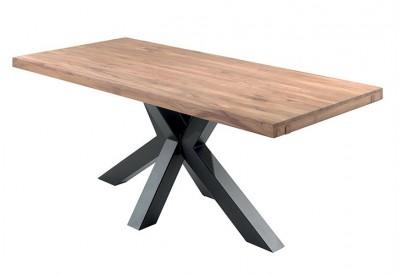 Table Smokey 2m en chêne & métal - CASITA