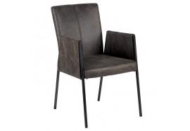 Chaise grise avec accoudoirs - CASITA