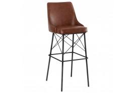 Chaise haute aspect cuir Havane - CASITA