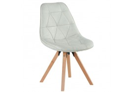 Chaise scandinave blanche Yate - CASITA