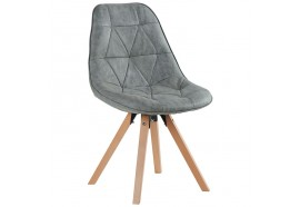 Chaise scandinave grise Yate - CASITA
