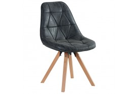 Chaise scandinave noir Yate - CASITA