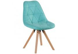 Chaise scandinave turquoise Yate - CASITA