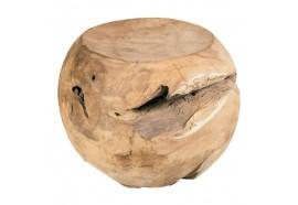 Tabouret forme boule en teck Ø 40 cm