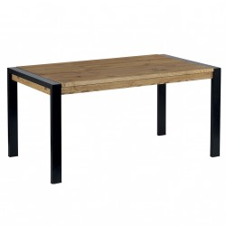 Table 160 cm en pin avec allonge Lugano - CASITA