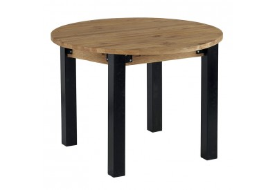 Table ronde Ø110 cm avec allonge Lugano - CASITA