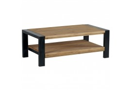 Table basse double plateau Lugano en pin - CASITA
