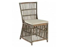 Chaise Pina en rotin gris avec coussin