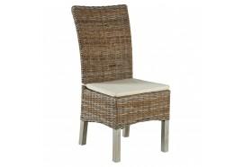 Chaise Ubud en kubu avec coussin - CASITA