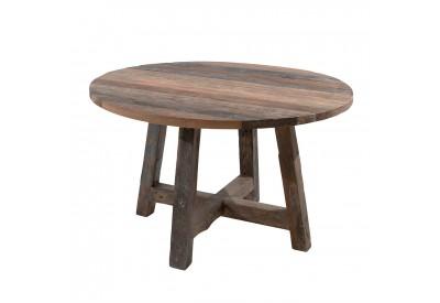 table ronde andoma 140 cm en teck s jour casita koh deco. Black Bedroom Furniture Sets. Home Design Ideas