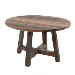 Table ronde Andoma Ø 120 cm en Teck - CASITA