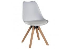 Chaise scandinave blanche Benny - CASITA