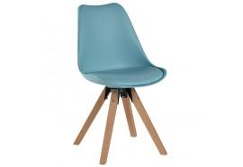Chaise scandinave Benny en bleu - CASITA