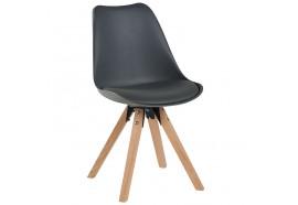 Chaise scandinave en gris Benny - CASITA