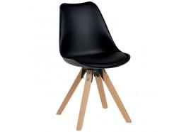 Chaise scandinave en noir Benny - CASITA