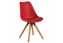 Chaise scandinave en rouge Benny - CASITA