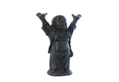 Statue Bouddha du Bonheur 60 cm - Brun