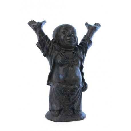 statue bouddha rieur h 60 cm int rieur ext rieur koh deco. Black Bedroom Furniture Sets. Home Design Ideas