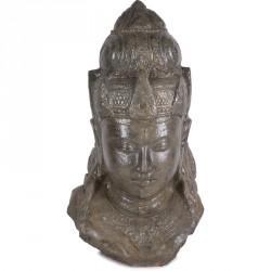 Statue jardin divinité hindoue 100 cm - Brun