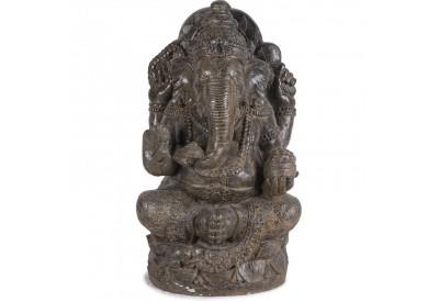 Statue Ganesh assis 90 cm - Brun