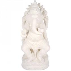 Statue jardin Ganesh 60 cm - Blanc