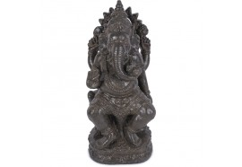 Statue jardin Ganesh 60 cm - Marron