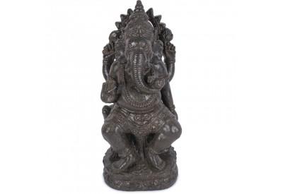 Statue jardin Ganesh 60 cm - Brun