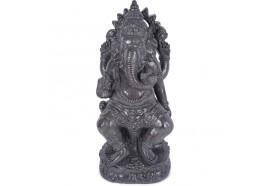 Statue jardin Ganesh 60 cm - Gris
