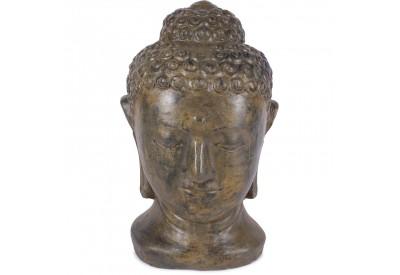 Statue jardin tête de Bouddha 70 cm - Brun