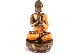 Support à bougie Bouddha - Orange