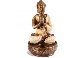 Bougeoir Statue Bouddha - Blanc