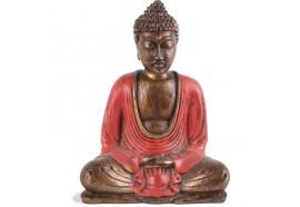 Statue Bouddha Thaïlandais 15 cm - Rouge