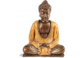 Statue Bouddha Thaïlandais 15 cm - Orange