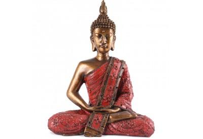 Statue de Bouddha Sukhothai 30 cm - Rouge