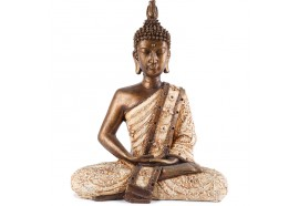Statue de Bouddha Sukhothai 30 cm - Blanc