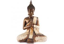 Statue de Bouddha Sukhotai 20 cm en Blanc
