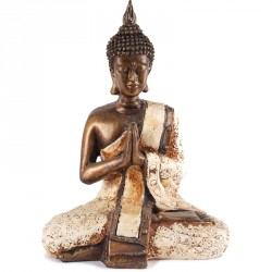 Statue de Bouddha Sukhothai 20 cm - Blanc