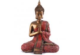 Statue de Bouddha Sukhothai 20 cm - Rouge