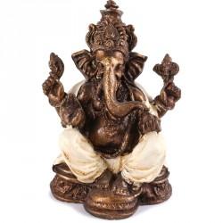Statue Ganesh 25 cm - Blanc