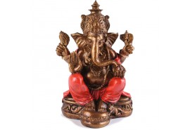 Statue Ganesh 25 cm -Rouge