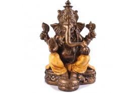 Statue Ganesh 25 cm - Orange